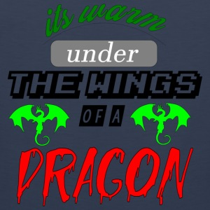 its warm under the wings of a dragon - Men's Premium Tank Top