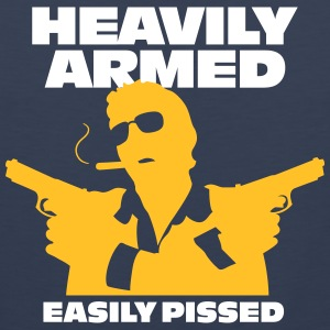 Heavily Armed And Easily Pissed,Keep Away! - Men's Premium Tank Top