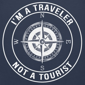 I'm a Traveler, Not a Tourist - Men's Premium Tank Top