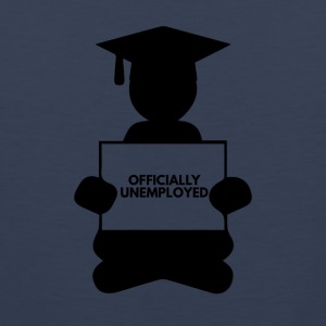 High School / Graduation: Officially Unemployed - Men's Premium Tank Top