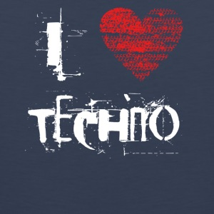 I love techno rave goa hardtek hard - Men's Premium Tank Top