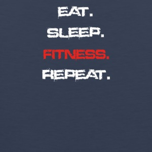 eat sleep repeat FITNESS - Männer Premium Tank Top