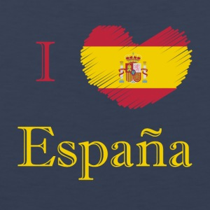 Spain Espana I love Spain country shirt - Men's Premium Tank Top
