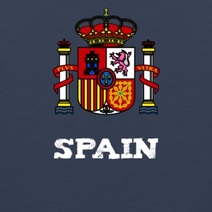 Spain Coat of arms Spain Madrid Barcelona holiday crown - Men's Premium Tank Top