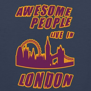 London Awesome people live in - Men's Premium Tank Top