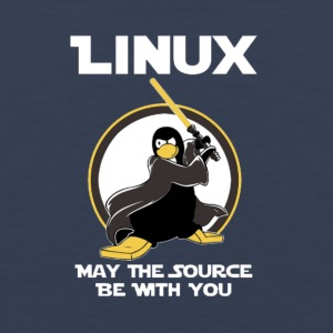 may_the_linux_source - Mannen Premium tank top
