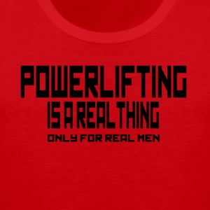 REAL THING powerlifting - Canotta premium da uomo