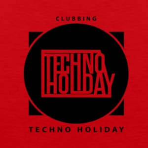 logo_techno_holiday_2017_negro1 - Premium singlet for menn