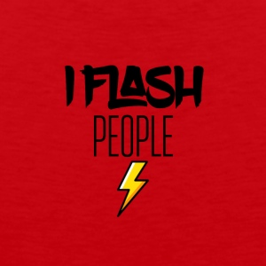 I randomly flash people - Men's Premium Tank Top