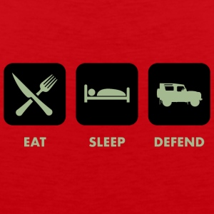 Eat, Sleep & Defend - Mannen Premium tank top