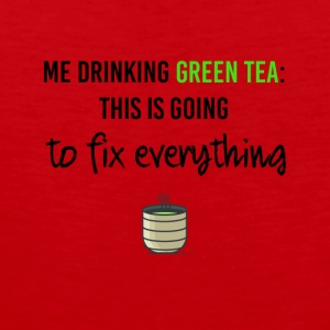 My drinking green tea - Men's Premium Tank Top