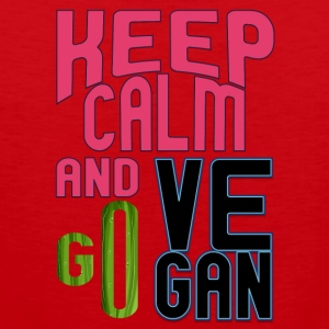 vegan t shirt Keep calm and go vegan - Men's Premium Tank Top