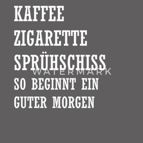 Guten Morgen Kaffee Spruch Geschenk Männer Premium Tanktop