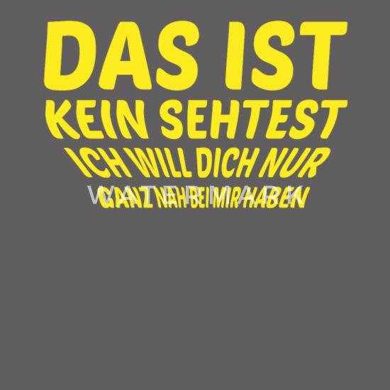 Paare Verliebt Sehtest Witzige Sprüche Tshirt Männer Premium