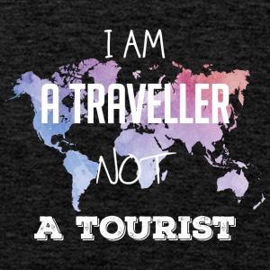 I am a traveler not a tourist - Men's Premium Tank Top