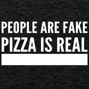 people are fake pizza is real - Männer Premium Tank Top