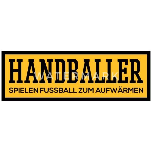handballer spielen fussball zum aufw rmen von spreadshirt. Black Bedroom Furniture Sets. Home Design Ideas