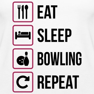 Eat Sleep Bowling Repeat - Canotta premium da donna