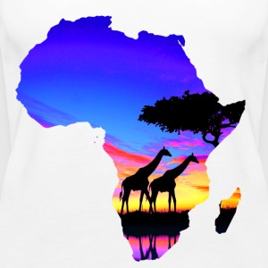 Africa love map - Women's Premium Tank Top