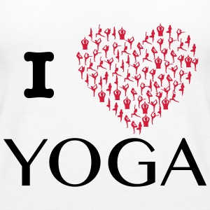 I love yoga, yoga heart from positions exercises - Women's Premium Tank Top