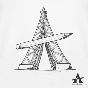 Eiffel Tower Pencil - Women's Premium Tank Top