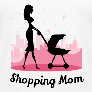 Shopping mamma - Premium singlet for kvinner