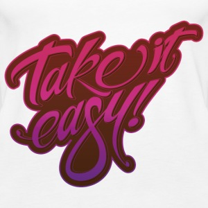 Take it easy pink purple - Women's Premium Tank Top