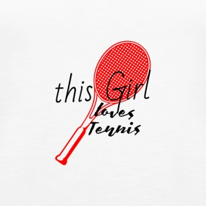 This woman loves tennis Loves tennis red - Women's Premium Tank Top
