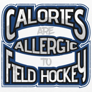 Calories are allergic to field hockey - Women's Premium Tank Top