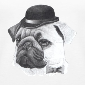 Pug with bowler - Women's Premium Tank Top