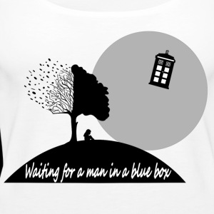 WAITING FOR A MAN IN A BLUE BOX