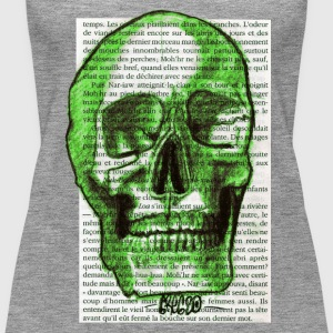GREEN SKULL - Women's Premium Tank Top