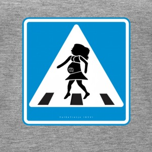 Traffic sign: Pregnancy blue / pregnancy blue - Women's Premium Tank Top