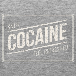 Sniff Cocaine feel refreshed white - Women's Premium Tank Top