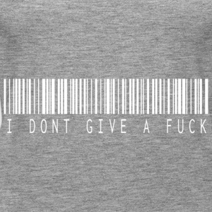 I do not give a fuck barcode white - Women's Premium Tank Top