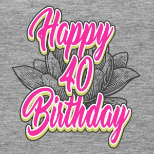 40 Birthday - Congratulations gift - Women's Premium Tank Top
