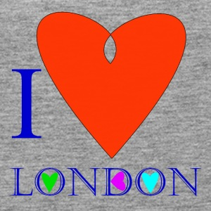 I Love London B - Women's Premium Tank Top