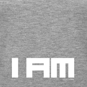 TEXT I AM WHITE - Women's Premium Tank Top