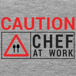Chef / Chef Cook: Caution - Chef at work. - Women's Premium Tank Top