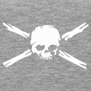 Skull with bones. - Women's Premium Tank Top