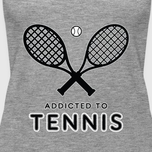 Tennis player. Addicted to tennis - Women's Premium Tank Top