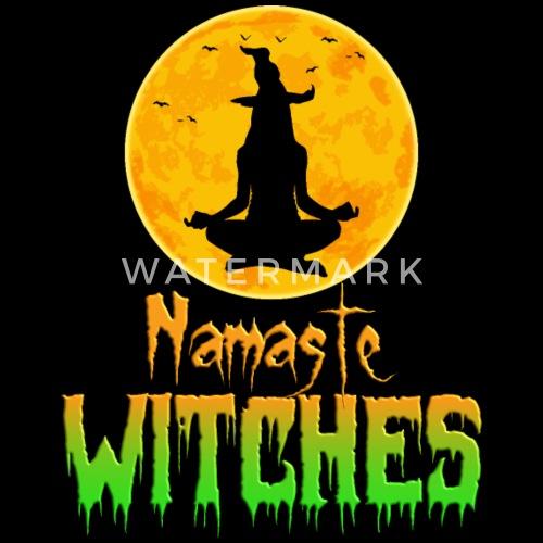 Halloween Yoga Shirt Namaste Witches Cool Lustig Frauen Premium