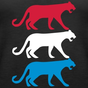 Lionesses in Dutch 3 color - Women's Premium Tank Top