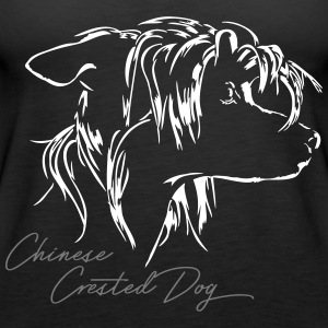 CHINESE CRESTED DOG - Women's Premium Tank Top
