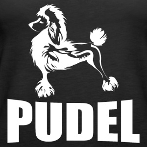 Poodle with lettering - Women's Premium Tank Top