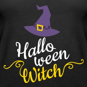 Halloween Witch Cap - Women's Premium Tank Top