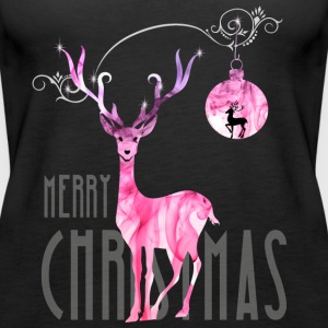 rentier pink Christmas advent nicholas girl woman - Women's Premium Tank Top