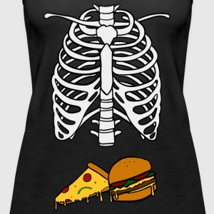 Pizza und Burger Baby Halloween Kostüm - Frauen Premium Tank Top