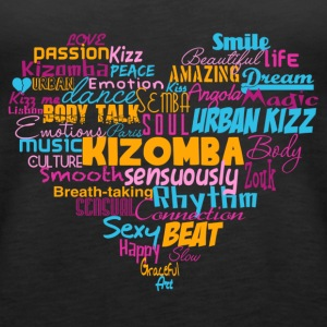 Kizomba Heart Shirt color - Mambo New York - Women's Premium Tank Top