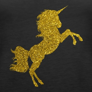 Golden Unicorn - Golden Unicorn Gold Glitter - Naisten premium hihaton toppi